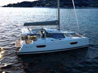 Charter a Catamaran boat in Antigua, Caribbean Netherlands - the AQUARELLE  for 8 guests.