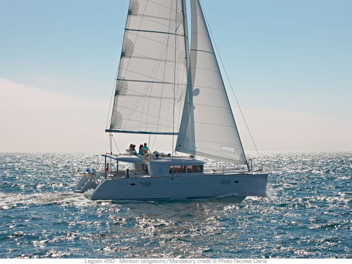 Beautiful catamaran for rent in Tonnarella, Italy - rent a boat for up to 8 guests.