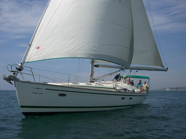 Sailing charter in Sitges, Spain - rent a sail boat for up to 10 guests.