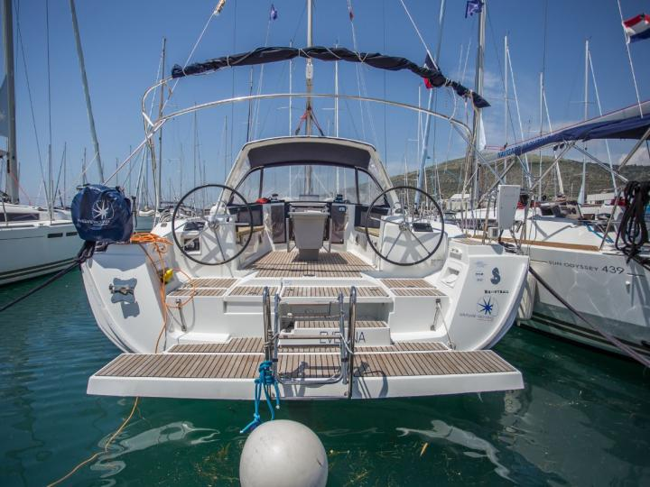 Affordable sailboat for rent in the beautiful turquoise seas of Trogir, Croatia.