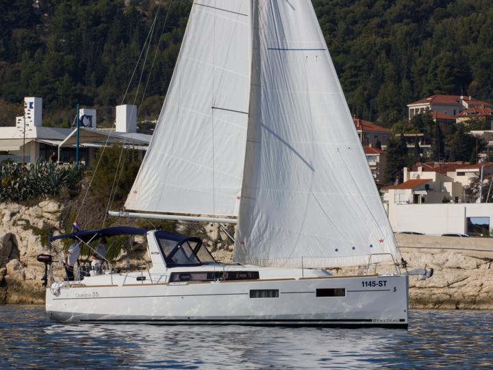 Affordable sail boat for rent in Split, Croatia.