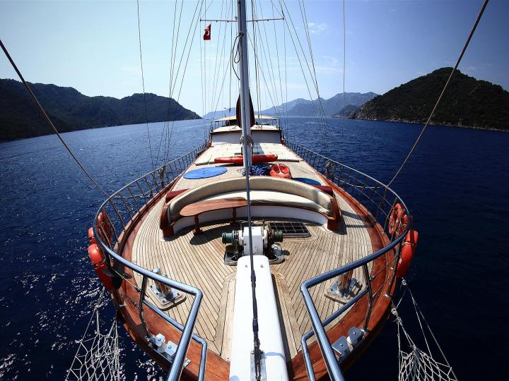 This wonderful luxury gulet sailing at the coasts of aegean and Mediterranean is 34 meters long and for 22 people