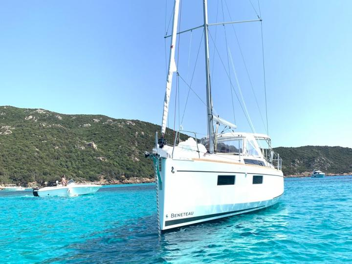 Sail on a sail boat rental in Cannigione, Italy - the ultimate vacation trip on a yacht charter for 6 guests.