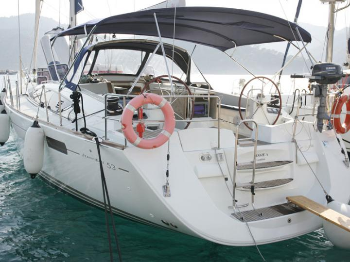 Private sail boat boat in Göcek, Turkey, for up to 10 guests.