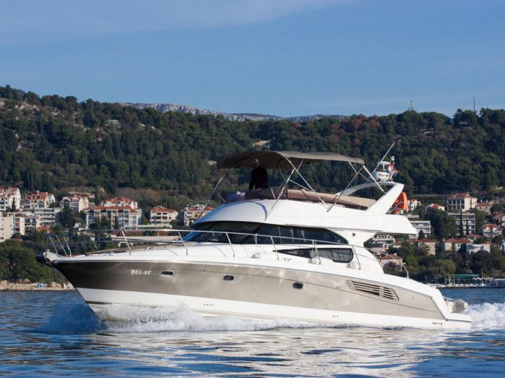 Private power boat in Split, Croatia for up to 6 guests.