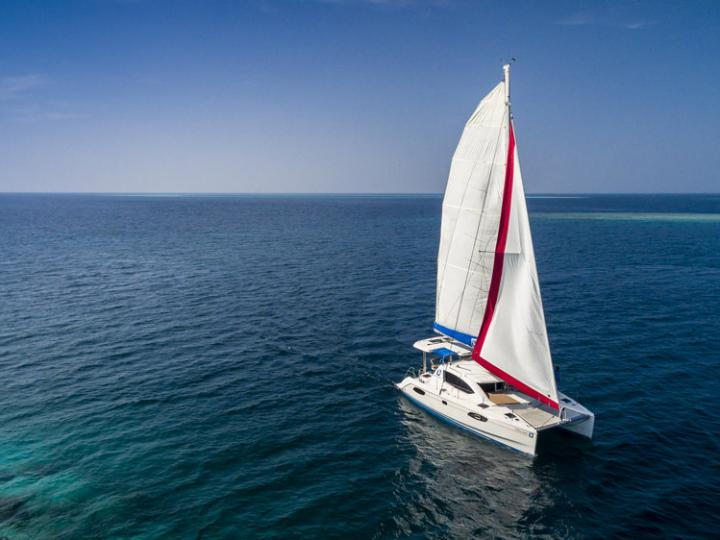 Sail on a beautiful 38ft catamaran for in Hulhumale, Maldives - the ultimate vacation trip on a yacht charter.