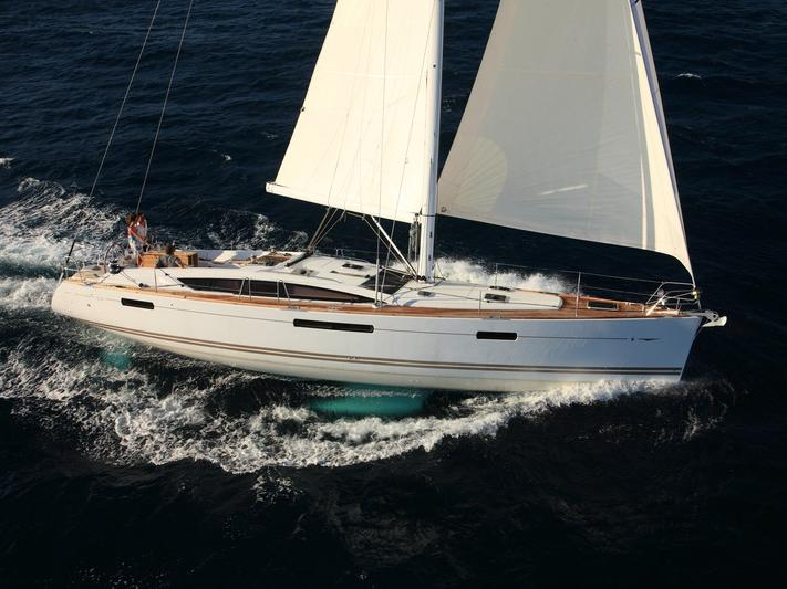 Sail on a boat rental in Portocolom, Spain for up to 10 guests.