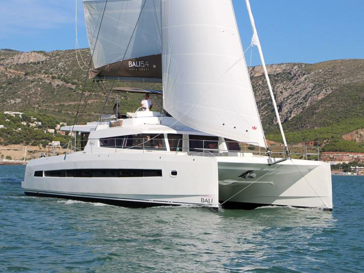 Catamaran for rent in Split, Croatia for up to 12 guests.