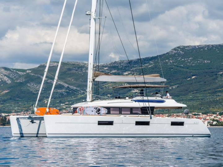 Charter a catamaran in Split, Croatia - the OPAL boat for rent for 10 guests.