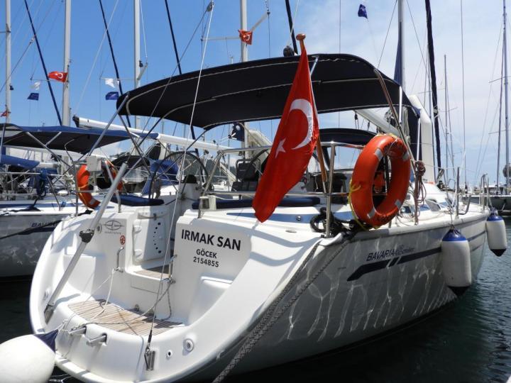 """""""Irmak San"""" a charter sail boat boat in Turkey - Göcek area."""