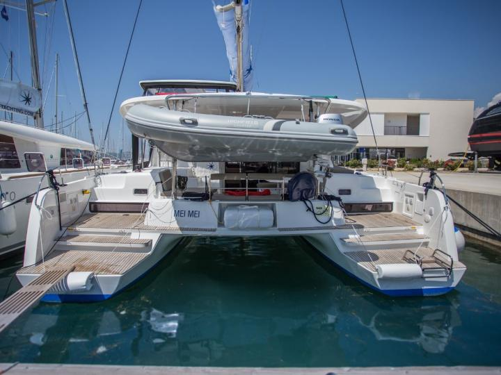 Rent this top class catamaran sailboat in Croatia, near Split - create your dream holiday on this catamaran for up to 8 guests.