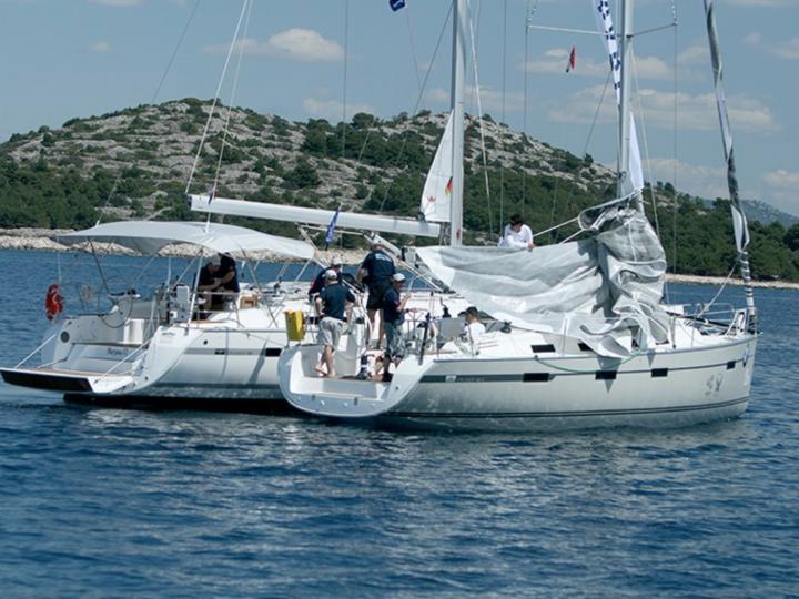 Sailing boat for rent in Split, Croatia - all sailors aboard!