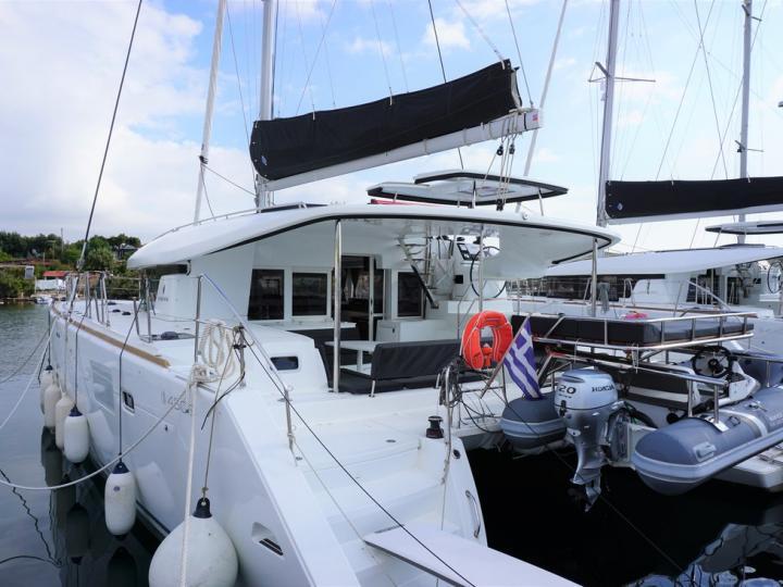 Rent a catamaran in Lavrio, Greece - the Saga boat.