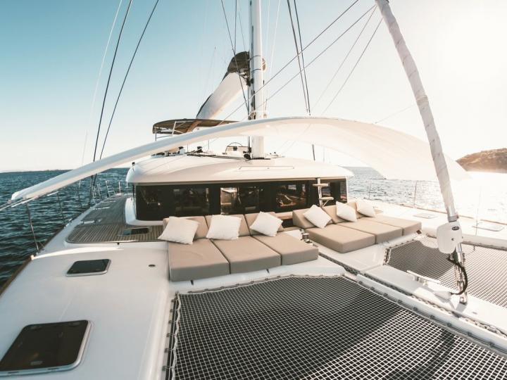 Affordable catamaran for rent in Eivissa, Spain.
