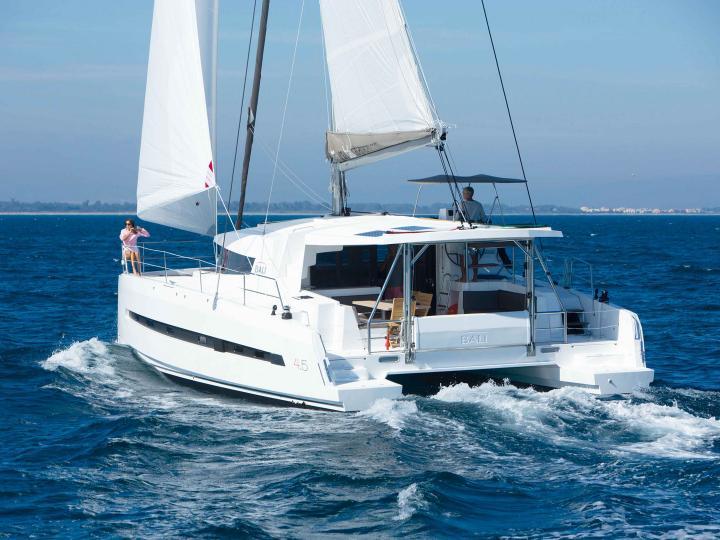 Rent a catamaran in Capo d'Orlando area, Sicily, Italy - the Salina yacht chartert.