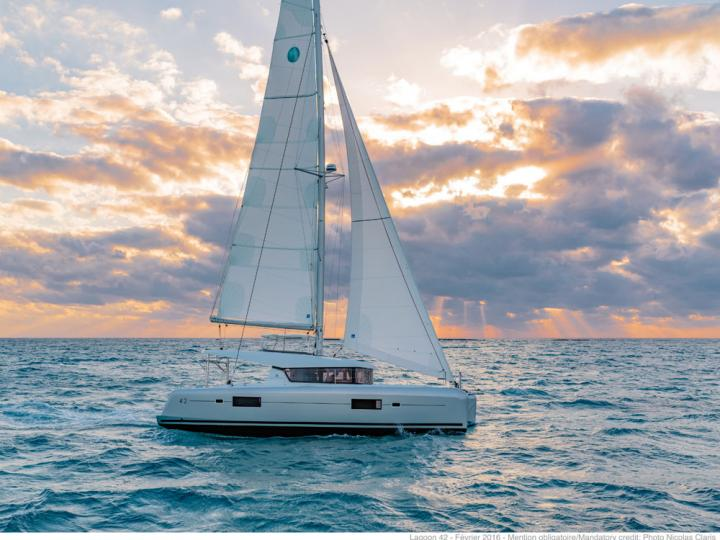 Book an amazing yacht charter in Trogir, Split, Croatia - rent a catamaran for up to 8 guests.
