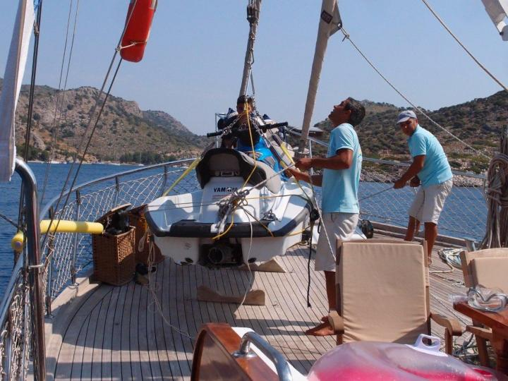 This beautiful Deluxe Gulet is 24 m, and for 8 Guests it has 3 crew