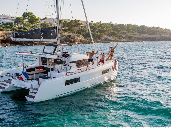 Fun for the whole family on a 39ft catamaran for rent in Tortola, BVI.