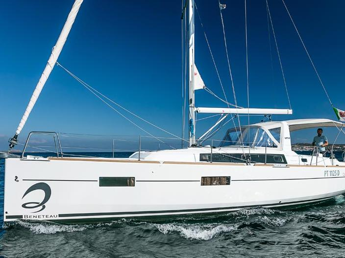 Sail boat rental in Portisco, Italy, for up to 6 guests.