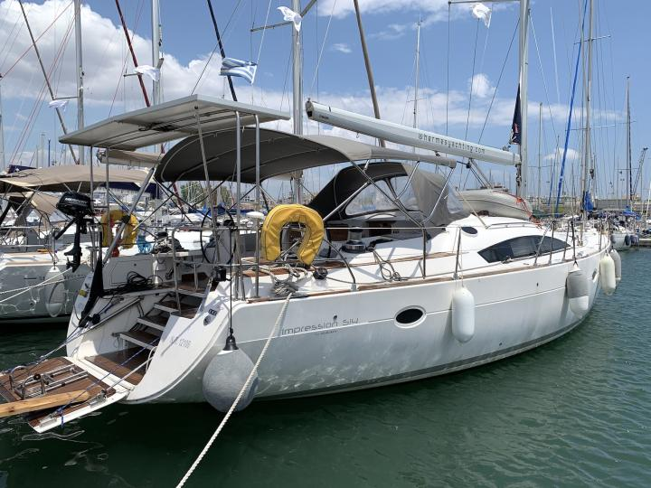Rent a 53ft sail boat in Lavrio, Greece - the best vacation trip on a yacht charter.