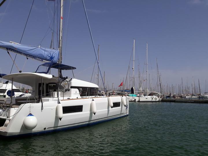 Palma de Mallorca, Spain catamaran boat rental - for up to 8 guests.