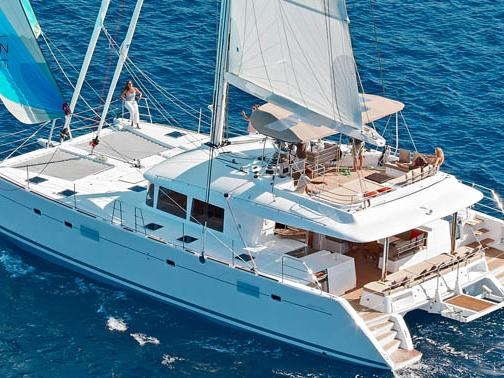 Beautiful boat rental in Dubrovnik, Croatia - rent a catamaran for up to 10 guests.