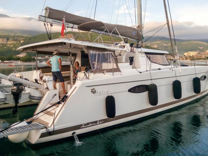 Rent a catamaran in Tivat, Montenegro - beautiful yacht charter for up to 6 guests.