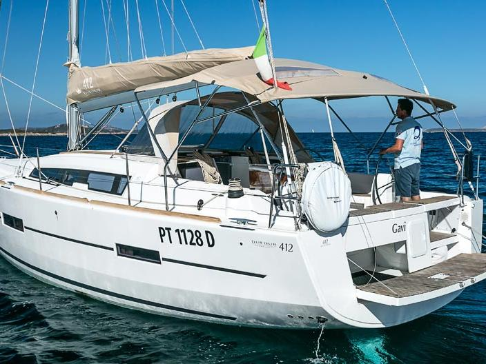 Discover sailing aboard the 42ft Gavi boat for rent in Portisco, Italy.