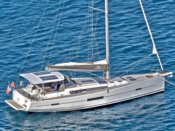 Sail boat rental in Portisco, Italy, for up to 8 guests.
