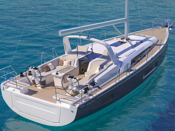 Sail on a beautiful 48ft boat for rent in Athens, Greece - the best vacation trip on a yacht charter.