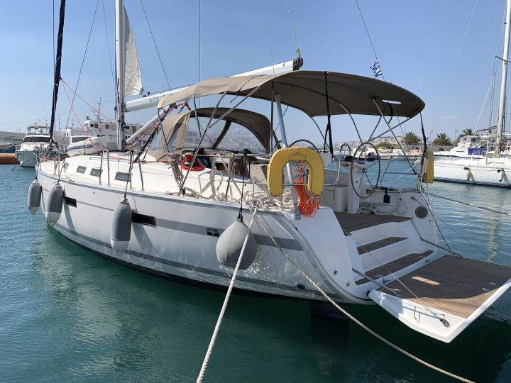 Sail on a boat rental in Lavrio, Greece - enjoy vacation trip on a yacht charter for 8 guests.