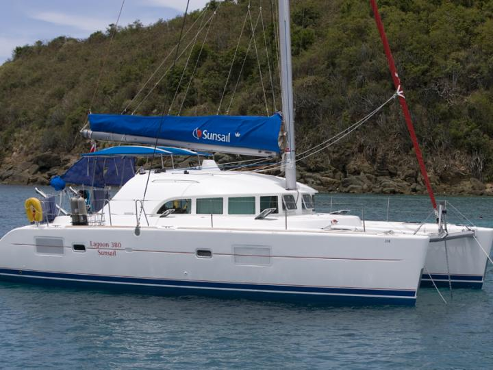 Sail on a catamaran for rent in Marsala, Italy - a yacht charter for 8 guests.