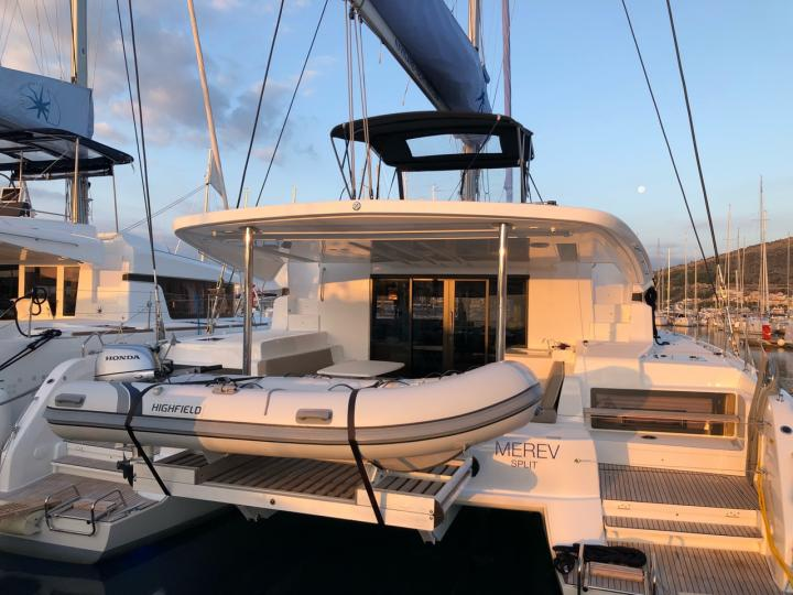 Charter a catamaran sailboat in Seget Donji, Croatia - the Merev has it all for total fun and relaxation for 12 guests.