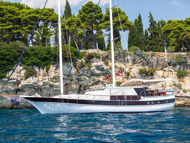 Sail on a beautiful 72ft Gulet in Split, Croatia.