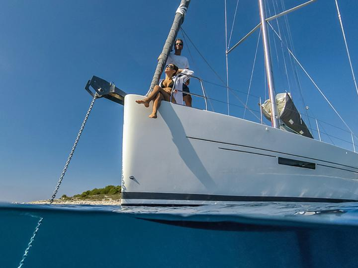 Sailboat for rent in Dalmatia, Croatia for up to 10 guests.