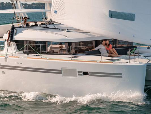 Catamaran boat rental in Key West, United States, for up to 8 guests.