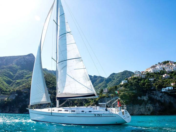 Sail the gorgeous Sicilian coast on a yacht charter - rent the Marcella boat.