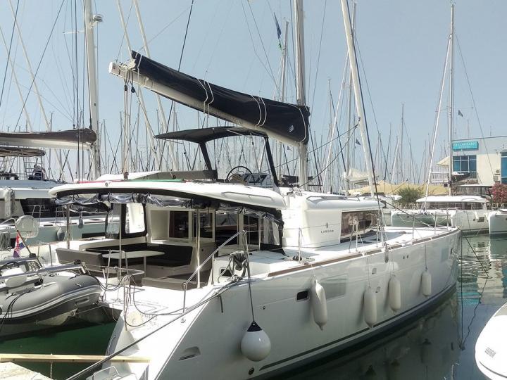 Gorgeous catamaran for rent in Split, Croatia.