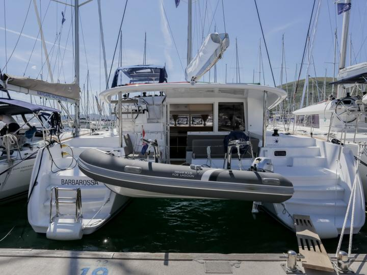 Rent a catamaran in Split, Croatia - the Barbarossa for 6 guests.