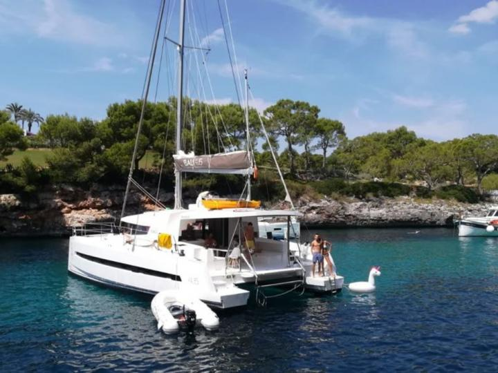 Med Cat 4 - a 45ft boat for rent in Sant Antoni de Portmany, Ibiza, Spain. Enjoy a great yacht charter for 8 guests.