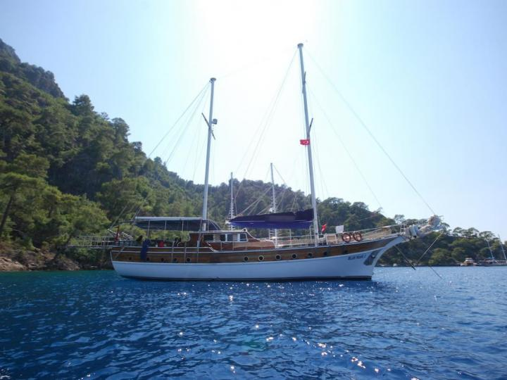 Sail on a beautiful 79ft powerboat in Fethiye, Turkey - the ultimate vacation trip on a yacht charter.