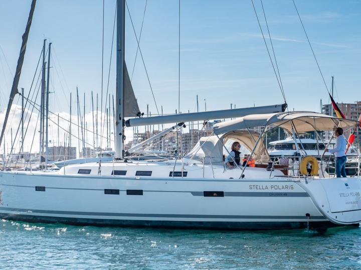 Affordable sail boat for rent in Palma, Spain.