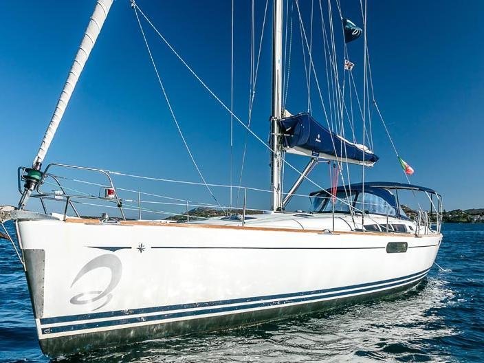 Top boat rental in Portisco, Italy - sail boat for up to 8 guests.