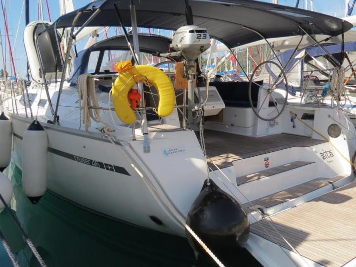 Discover sailing aboard the 47ft Sita boat in Göcek, Turkey - a 4 cabins sail boat for rent.