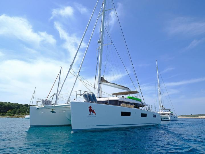 Amazing catamaran for rent in Split, Croatia - rent a boat for up to 10 guests.