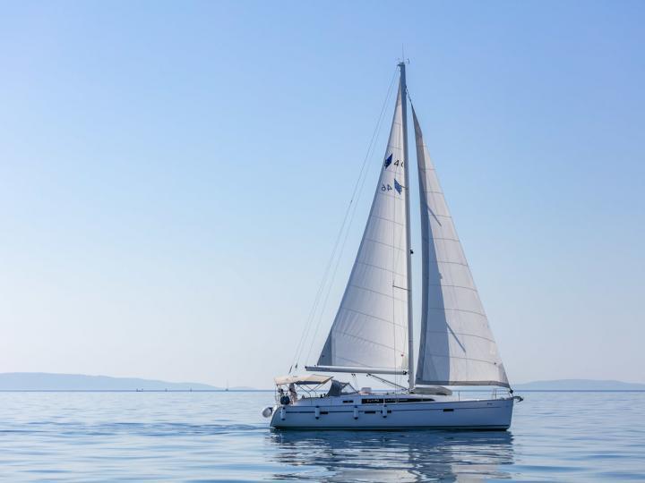 Sail boat for rent in Split, Croatia.