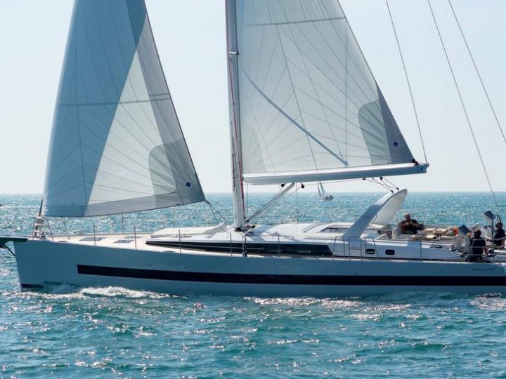 Charter a sailboat in Croatia - the yacht Thora Helen  for 8 guests near Split.