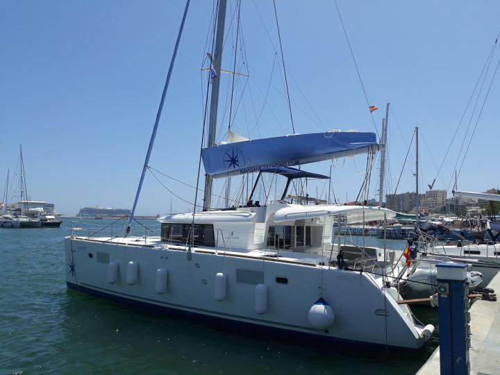 Catamaran charter in Palma, Spain - CALYPSO catamaran for up to 8 guests.