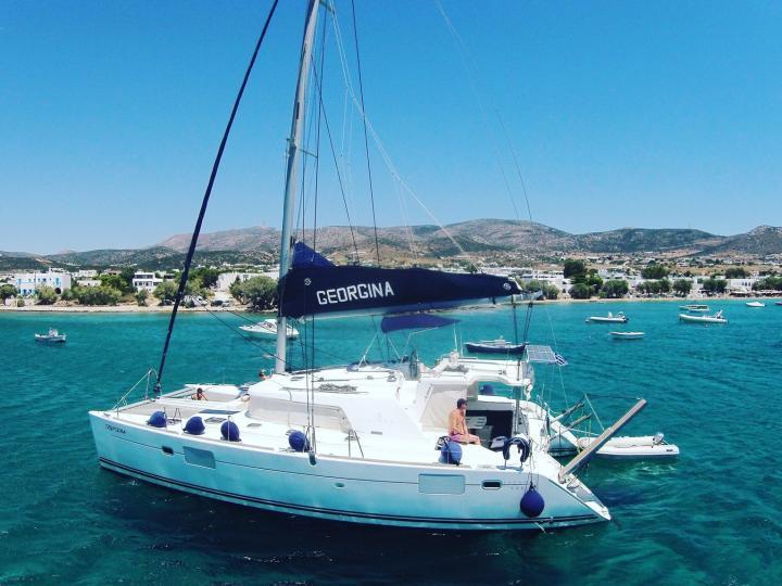 Discover Sailing in Greece on Georgina Catamaran