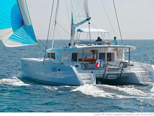 Discover sailing aboard the MIRA V catamaran for rent in Biograd, Croatia - a 6-cabin yacht charter.